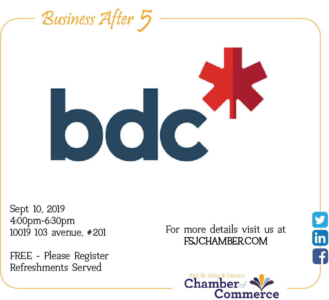 Business After 5  - BDC @ Business Development Bank Of Canada