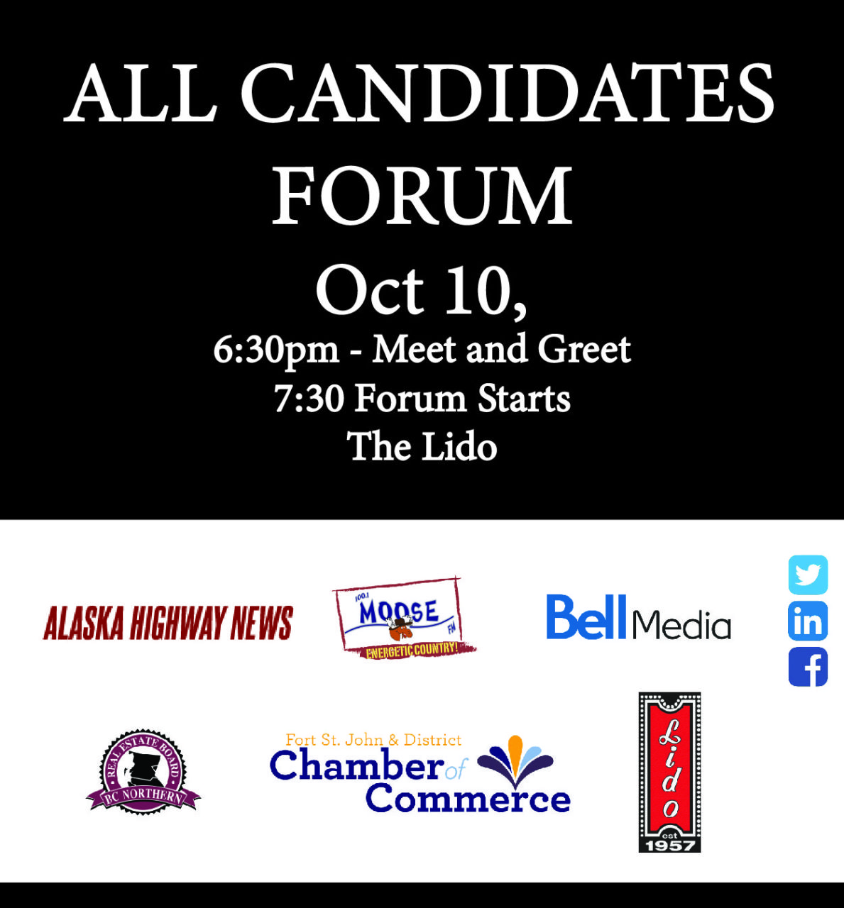 All Candidates Forum @ The Lido