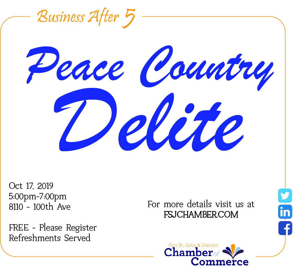 Business after 5 - Peace Country Delite @ Peace Country Delite