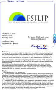 December Speaker Luncheon - FSJLIP / SUCCESS @ Pomeroy Hotel and Conference Centre