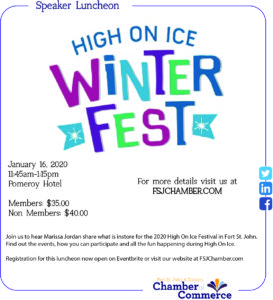 Speaker Luncheon - High On Ice @ Pomeroy Hotel and Conference Centre