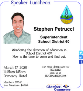 Speaker Luncheon - Stephen Petrucci - School District #60 @ Pomeroy Hotel and Conference